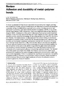 Adhesion and durability of metal-polymer bonds