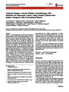 Adjuvant Hepatic Arterial Infusion Chemotherapy After Resection for Pancreatic Cancer Using Coaxial Catheter-Port System Compared with Conventional System