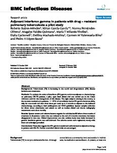 Adjuvant interferon gamma in patients with drug – resistant pulmonary tuberculosis: a pilot study