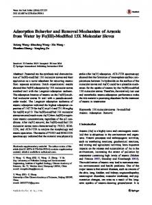 Adsorption Behavior and Removal Mechanism of Arsenic from Water by Fe(III)-Modified 13X Molecular Sieves