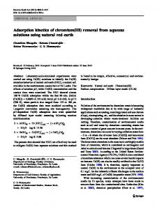 Adsorption kinetics of chromium(III) removal from aqueous solutions using natural red earth