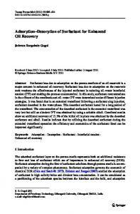 Adsorption–Desorption of Surfactant for Enhanced Oil Recovery
