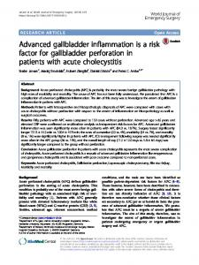 Advanced gallbladder inflammation is a risk factor for gallbladder perforation in patients with acute cholecystitis