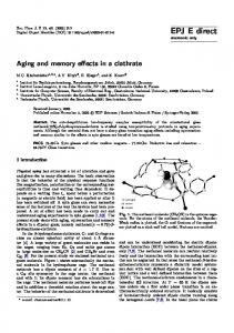 Aging and memory effects in a clathrate