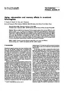 Aging, rejuvenation and memory effects in re-entrant ferromagnets