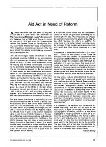 Aid act in need of reform