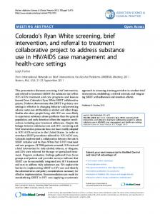 AIDS case management and health-care settings