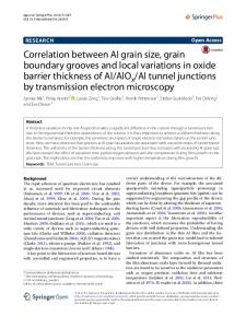 Al tunnel junctions by transmission electron microscopy