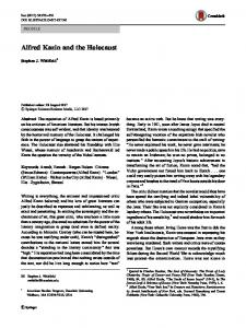 Alfred Kazin and the Holocaust