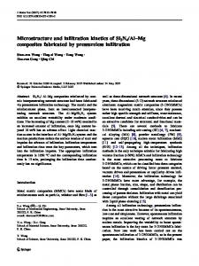 Al–Mg composites fabricated by pressureless infiltration