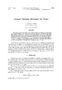 Almost Optimal Dynamic 2–3 trees