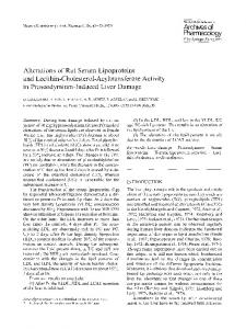 Alterations of rat serum lipoproteins and lecithin-cholesterol-acyltransferase activity in praseodymium-induced liver damage
