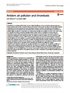 Ambient air pollution and thrombosis