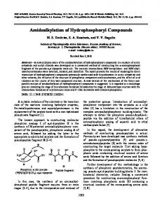 Amidoalkylation of hydrophosphoryl compounds