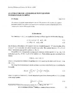 An attractor for a semilinear wave equation with boundary damping