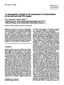 An autoregressive method for the measurement of synchronization of interictal and ictal EEG signals