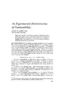 An experimental determination of combustibility