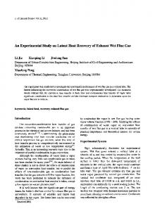 An experimental study on latent heat recovery of exhaust wet flue gas