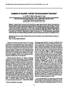 Analysis of ascorbic acid by electrochemical detection