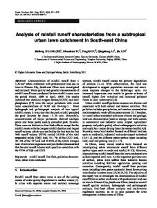 Analysis of rainfall runoff characteristics from a subtropical urban lawn catchment in South-east China