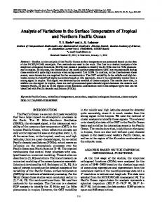 Analysis of variations in the surface temperature of tropical and Northern Pacific Ocean
