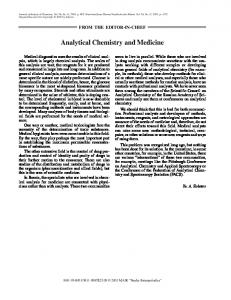 Analytical Chemistry and Medicine