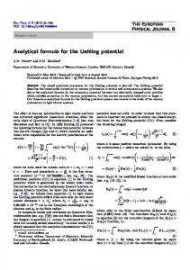 Analytical formula for the Uehling potential