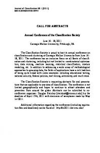 Annual Conference of the Classification Society