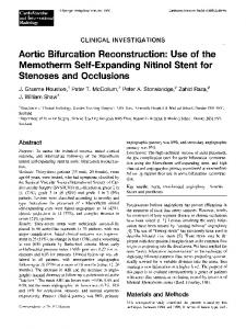 Aortic bifurcation reconstruction: Use of the memotherm self-expanding nitinol stent for stenoses and occlusions