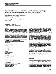 ApoA-I Induction as a Potential Cardioprotective Strategy: Rationale for the SUSTAIN and ASSURE Studies