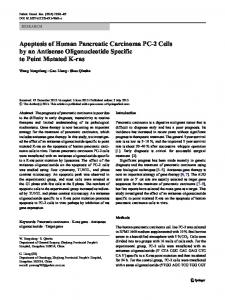 Apoptosis of Human Pancreatic Carcinoma PC-2 Cells by an Antisense Oligonucleotide Specific to Point Mutated K-ras