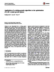 Application of a niching genetic algorithm to the optimization of a SiC crystal growth system