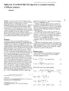 Application of combined BEM-FEM algorithm in numerical modelling of diffusion problems