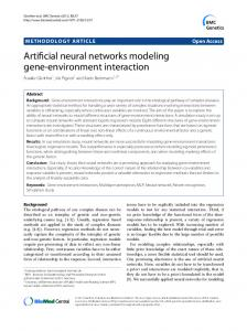 Artificial neural networks modeling gene-environment interaction