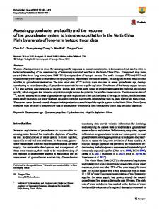Assessing groundwater availability and the response of the groundwater system to intensive exploitation in the North China Plain by analysis of long-term isotopic tracer data