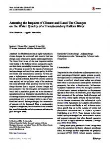 Assessing the Impacts of Climate and Land Use Changes on the Water Quality of a Transboundary Balkan River