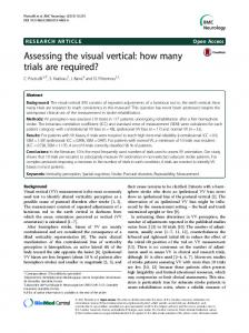 Assessing the visual vertical: how many trials are required?