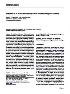 Assessment of surfactant adsorption in oil-based magnetic colloids