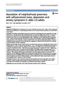 Association of neighborhood greenness with self-perceived stress, depression and anxiety symptoms in older U.S adults