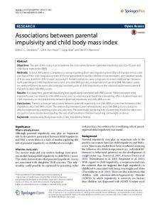 Associations between parental impulsivity and child body mass index