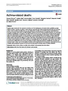 Asthma-related deaths