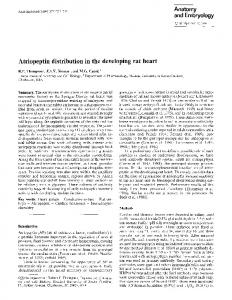 Atriopeptin distribution in the developing rat heart