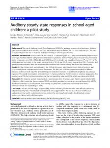 Auditory steady-state responses in school-aged children: a pilot study