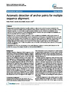 Automatic detection of anchor points for multiple sequence alignment