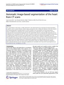 Automatic image-based segmentation of the heart from CT scans
