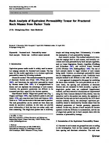 Back Analysis of Equivalent Permeability Tensor for Fractured Rock Masses from Packer Tests
