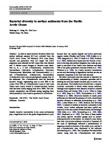 Bacterial diversity in surface sediments from the Pacific Arctic Ocean