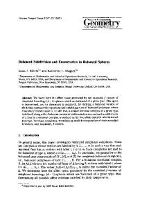 Balanced subdivision and enumeration in balanced spheres