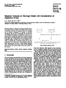 Bayesian Analysis on Deming's Model with Consideration of Inspection Errors