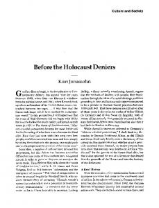 Before the holocaust deniers